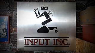 "Terry Andrews Jr's Input Inc sign prop used in the 1988 ""Short Cicuit 2"" movie."